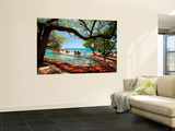 Jake's Resort, Treasure Beach Print by Greg Johnston