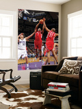 Houston Rockets v Sacramento Kings: Kyle Lowry and Francisco Garcia Poster by Rocky Widner