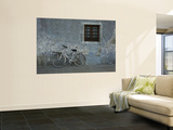 Bicycle Against Chipped Wall Poster by Guylain Doyle