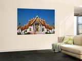 Marble Temple, Monks, Bangkok, Thailand Poster by Steve Vidler