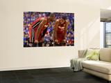 Miami Heat v Dallas Mavericks - Game Four, Dallas, TX -June 7: Dwyane Wade and Mario Chalmers Poster by Mike Ehrmann