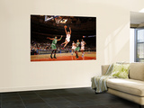 Boston Celtics v New York Knicks: Danilo Gallinari, Paul Pierce and Ray Allen Print by Lou Capozzola