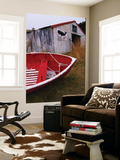 Red Boat Outside Shed with a Stop Whaling Sign Posters by Ralph Hopkins