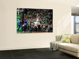 New York Knicks v Boston Celtics - Game One, Boston, MA - April 17: Paul Pierce and Ronny Turiaf Prints