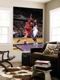 Houston Rockets v Sacramento Kings: Brad Miller and Carl Landry Print by Rocky Widner
