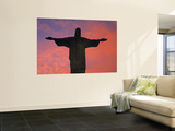 Christ the Redeemer Statue at Sunset, Rio De Janeiro, Brazil Posters by Gavin Hellier