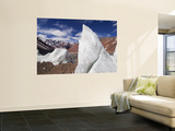 Ice Pinnacles at Terminus of Glaciar Italia, Rio Colorado Headwaters Print by Grant Dixon