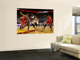 Chicago Bulls v Miami Heat - Game FourMiami, FL - MAY 24: Dwyane Wade, Joakim Noah and Luol Deng Prints by Marc Serota