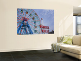 Historic Wonder Wheel Fairground, Coney Island Print by Christopher Groenhout