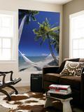 Hammock on Beach, Danarau, Viti Levu, Fiji Plakater af Neil Farrin
