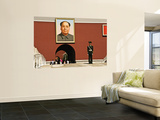 Forbidden City with Mao Portrait and Guard Posters by Wes Walker