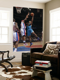 New Orleans Hornets v Detroit Pistons: David West and Charlie Villanueva Prints by Allen Einstein