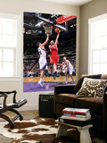 Houston Rockets v Sacramento Kings: Chase Budinger and Omri Casspi Poster by Rocky Widner