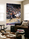 Atlanta Hawks v New Jersey Nets: Mike Bibby and Brook Lopez Posters by David Dow