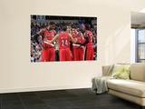 Portland Trail Blazers v Dallas Mavericks-GameTwo,Dallas,TX-April 19:Andre Miller, LaMarcus Aldridg Prints