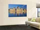 Hungarian Parliament Building and River Danube, Budapest, Hungary Prints by Doug Pearson