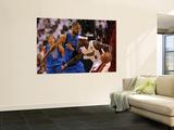 Dallas Mavericks v Miami Heat - Game One, Miami, FL - MAY 31: LeBron James and Tyson Chandler Art by Ronald Martinez