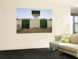 Girl with Traditional Somali Residential Water Storage Tank Above Her Art by Orien Harvey