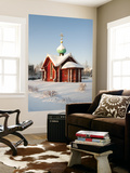 Saint Nicholas Chapel in Winter, Tikhvin, Leningrad Region, Russia Poster by Nadia Isakova