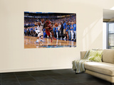 Miami Heat v Dallas Mavericks - Game Four, Dallas, TX -June 7: LeBron James and DeShawn Stevenson Poster by Andrew Bernstein