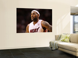 New Orleans Hornets v Miami Heat: LeBron James Print by  Mike