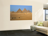 Pyramids at Giza, Cairo, Egypt Art by Jon Arnold