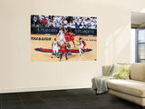 Chicago Bulls v Atlanta Hawks - Game Six, Atlanta, GA - MAY 12: Josh Smith and Joakim Noah Plakater af Scott Cunningham