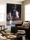 Atlanta Hawks v Detroit Pistons: Josh Smith, Ben Wallace and Charlie Villanueva Art by Allen Einstein