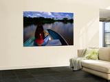 Woman in Bow of Boat on Cano Mata'E Rancho, Hato La Fe Ecotourist Ranch Posters by Krzysztof Dydynski