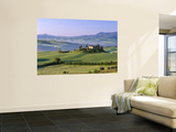 Val d'Orcia, Countryside View, Farmhouse and Green Grass and Hills, Tuscany, Italy Posters by Steve Vidler