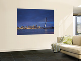 Erasmus Suspension Bridge, Rotterdam, Holland Print by Michele Falzone