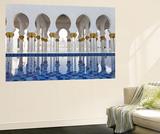 United Arab Emirates (UAE), Abu Dhabi, Sheikh Zayed Bin Sultan Al Nahyan Mosque, Gilded Columns Posters by Gavin Hellier