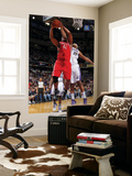 Houston Rockets v Sacramento Kings: Chuck Hayes and DeMarcus Cousins Print by Rocky Widner
