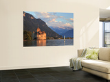 Switzerland, Vaud, Montreaux, Chateau De Chillon and Lake Geneva (Lac Leman) Plakater af Michele Falzone