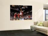 Chicago Bulls v Miami Heat - Game FourMiami, FL - MAY 24: LeBron James, Joakim Noah, Luol Deng, Car Láminas por Mike Ehrmann