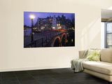 Keizersgracht Canal at Night, Amsterdam, Holland Posters by Peter Adams
