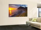 Mightnight Sun over Dramatic Coastal Landscape, Vikten, Flakstadsoya, Lofoten, Norway Posters af Doug Pearson