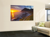Mightnight Sun over Dramatic Coastal Landscape, Vikten, Flakstadsoya, Lofoten, Norway Posters by Doug Pearson