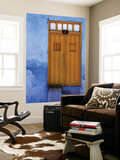 Yellow Doorway in a Blue-Painted House Poster by Tim Hughes