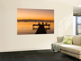 Jetty at Sunset, Caye Caulker, Belize Prints by Russell Young