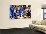 Portland Trail Blazers v Dallas Mavericks: DeShawn Stevenson and Andre Miller Poster by Ronald Martinez