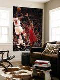 Miami Heat v Chicago Bulls - Game Five, Chicago, IL - MAY 26: Luol Deng and LeBron James Art by Nathaniel S. Butler