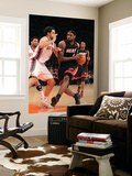 Miami Heat v New York Knicks: LeBron James and Danilo Gallinari Prints by Al Bello