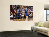 Dallas Mavericks v Miami Heat - Game One, Miami, FL - MAY 31: DeShawn Stevenson and Dirk Nowitzki Posters by Mike Ehrmann