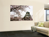 Osaka Castle with Cherry Blossoms Poster by John Banagan