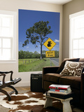 Australia, Queensland, Fraser Coast, Maryborough, Koala Crossing Sign on the Bruce Highway Prints by Walter Bibikow