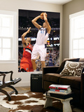 Portland Trail Blazers v Dallas Mavericks: Dirk Nowitzki and Brandon Roy Posters by Ronald Martinez
