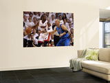 Dallas Mavericks v Miami Heat - Game Two, Miami, FL - JUNE 02: Dwyane Wade and Jason Kidd Print by Ronald Martinez