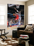 Philadelphia 76ers v New Jersey Nets: Jodie Meeks and Johan Petro Print by David Dow