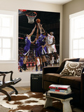 Sacramento Kings v Houston Rockets: Jordan Hill and DeMarcus Cousins Prints by Bill Baptist
